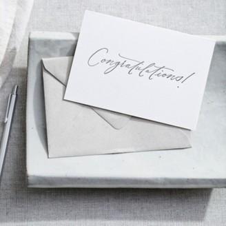 The White Company Congratulations Card, White, One Size