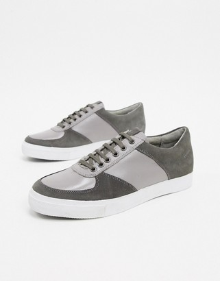 Rule London leather/suede trainer in grey