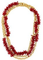 Kenneth Jay Lane Coral Station Necklace