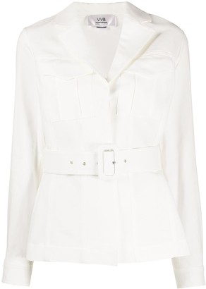 Victoria Victoria Beckham Belted Long Sleeve Jacket
