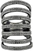 Versani Black Layered Ring