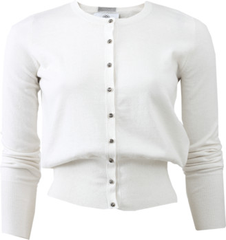 Allude Crystal Button Cardigan