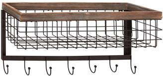 Uma Enterprises Wood Metal Wall Basket