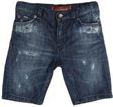Dolce & Gabbana Destroyed Stretch Cotton Denim Shorts