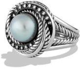 David Yurman Pearl Crossover Ring with Diamonds