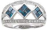 FINE JEWELRY LIMITED QUANTITIES 1-1/10 CT. T.W. White and Color-Enhanced Blue Diamond Ring