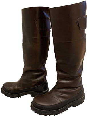 Acne Studios Brown Leather Boots