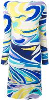 Emilio Pucci printed fitted dress - women - Silk/Viscose - 46
