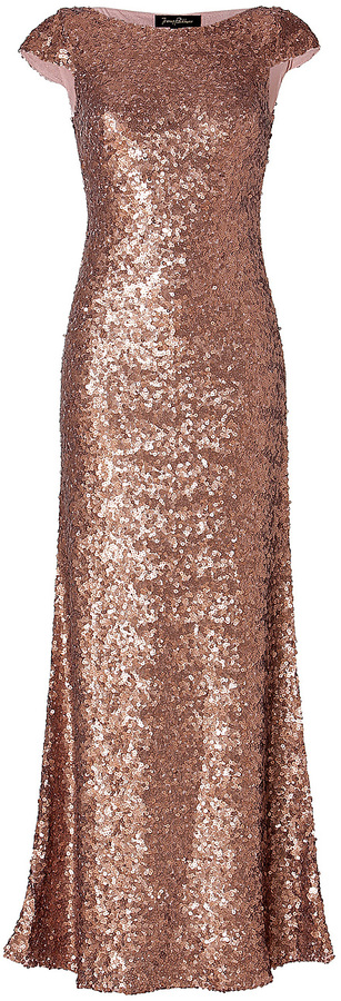 Jenny Packham Sequined Gown in Seville Rose