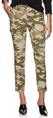 ATM Anthony Thomas Melillo Women's Camouflage Cotton Slim Cargo Pants - Green