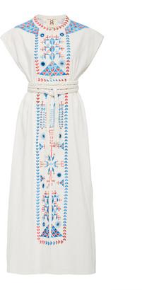 Figue Kari Embroidered Cotton Midi Dress