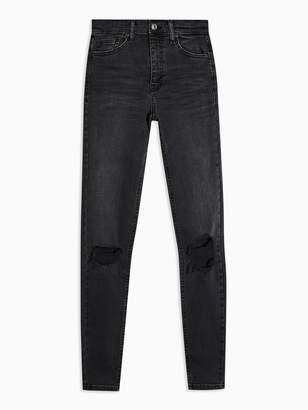 Topshop Austin Rip Jamie Jeans - Black