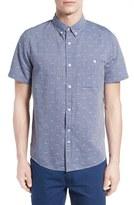 NATIVE YOUTH 'Arrowhead' Jacquard Chambray Sport Shirt