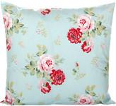 Cath Kidston Antique Rose Bouquet Cushion - 45x45cm - Duck Egg