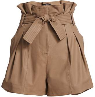 LAMARQUE Leather Paperbag Shorts