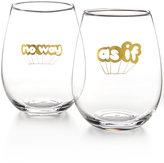 Celebrate Shop 2-Pc. Stemless Wine Glass Set