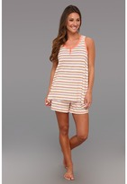 Carole Hochman Roseline Stripe Jersey Boxer Pajama Set (Roseline Stripe) - Apparel