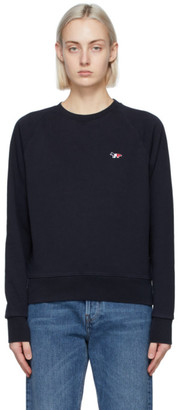MAISON KITSUNÉ Navy Tricolor Fox Sweatshirt