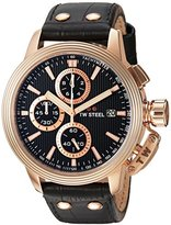 TW Steel 'CEO Adesso' Quartz Stainless Casual Watch, Color:Black (Model: CE7011)