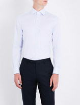 Corneliani Check-pattern slim-fit cotton shirt