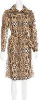 Oscar de la Renta Tiger Print Long Coat