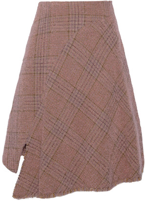 Acne Studios Checked Brushed Wool-blend Tweed Skirt