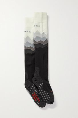 FALKE ERGONOMIC SPORT SYSTEM Sk2 Intarsia-knitted Ski Socks - White