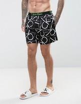 Calvin Klein Core Neon Placed Logo Runner Swim Shorts