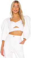 Iorane IORANE Supper Cotton Cropped Top