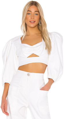 IORANE Supper Cotton Cropped Top