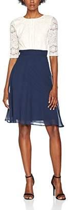 Elise Ryan Women's Midi Scallop Lace Bodice Dress,(38 EU)