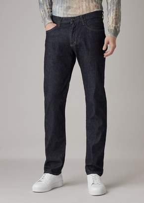 Giorgio Armani Slim-Fit Jeans In Hand-Dyed Denim Using Natural Indigo