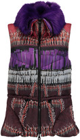 Peter Pilotto Cara faux fur-trimmed printed shell gilet