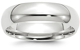 Bloomingdale's Men's 6mm Comfort Fit Band Ring in 14K White Gold - 100% Exclusive