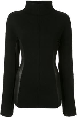 Yang Li contrasting side panels jumper