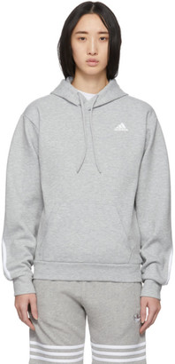 adidas Grey Original 3-Stripes Hoodie