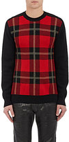 Balmain Men's Plaid Birdseye-Knit Sweater