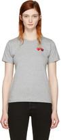 Comme des Garcons Grey Double Heart T-Shirt