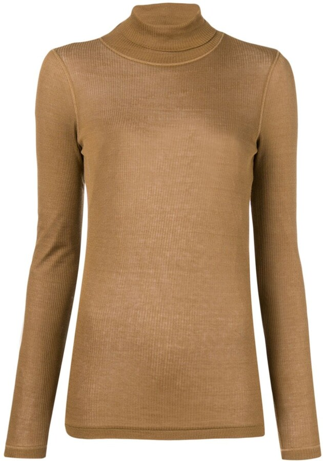 AMI Paris Long Sleeves Tee With Turtle Neck