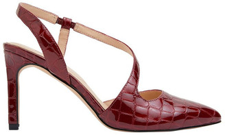 Sandler Odessa Burgundy Patent Croc Heeled Shoes