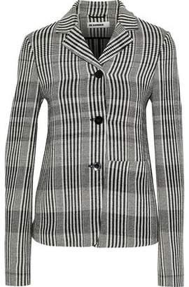 Jil Sander Checked Wool-blend Blazer