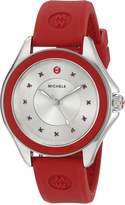 Michele Women's 'Cape' Quartz Stainless Steel and Silicone Dress Watch, Color: (Model: MWW27A000017)