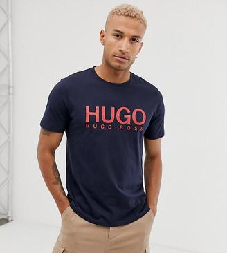 HUGO Dolive logo t-shirt in navy