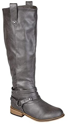 Journee Collection Walla Boot - Extra Wide Calf (Grey) Women's Shoes