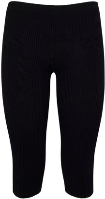 Jacquemus Viscose Blend Rib Knit Leggings