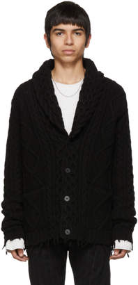 Alanui Black Fishermans Knitted Cardigan