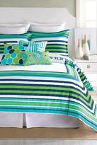 "Trina Turk 21\"" x 27\"" Huntington Stripe Standard Sham - Fresh Blue/Green"