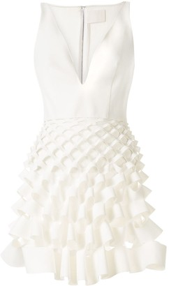Dion Lee wire slash ruffle mini dress