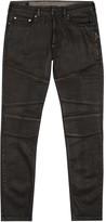 Neil Barrett Black Waxed Skinny Biker Jeans