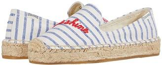 Soludos Hello Sunshine Platform SS (White/Sky) Women's Shoes